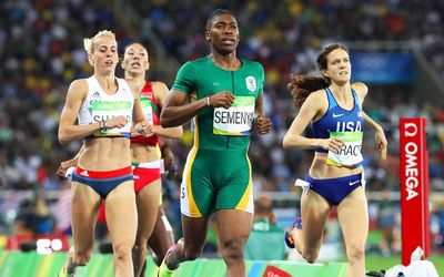 Congratulations to our golden girl #CasterSemenya taking our medal tally to 10 What a proud moment for SA✊ #Olympics https://t.co/HgSEH4zKKu