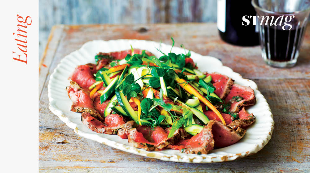 RT @TheSTMagazine: Raw food gets sophisticated: @jamieoliver's courgette with beef carpaccio & anchovy dressing https://t.co/mXTjtl0zW7 htt…