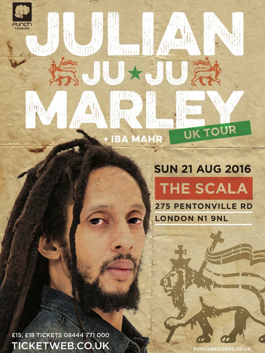 All roads lead to @ScalaLondon with @JulianMarley @IbaMaHr & much more https://t.co/ginEBUVECX