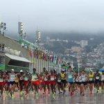 The Latest: Men's marathon underway on last day of Olympics