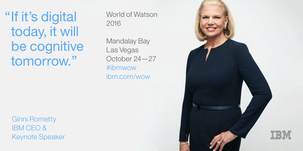 """This era will redefine the relationship between man and machine."" @IBM CEO Ginni Rometty. https://t.co/ppgUyz4IZU"