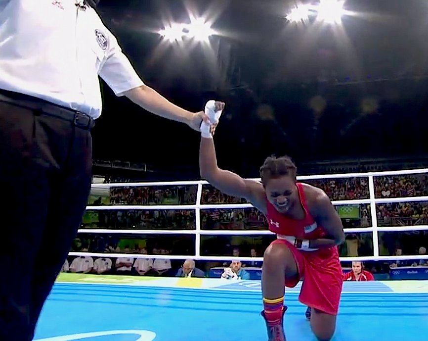 HISTORY MADE! @Claressashields becomes the first male or female US boxer to win back to back #GOLD MEDALS!