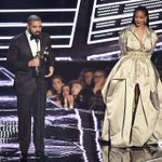 Drake presents @Rihanna with the the Video Vanguard Award during the 2016 MTV Video Music Awards. https://t.co/TuX2iJ9X0a