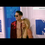 Britney Spears and G-Eazy at the white carpet of the #VMAs. They will be performing together later on https://t.co/iPok0StWsF