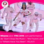 #VMAs A 1ª performance da @rihanna já está no site. Assista! --> https://t.co/oBp0f4JGx9 https://t.co/qPpnwbqv7h