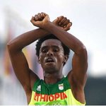 Ethiopian runner in 'death' protest