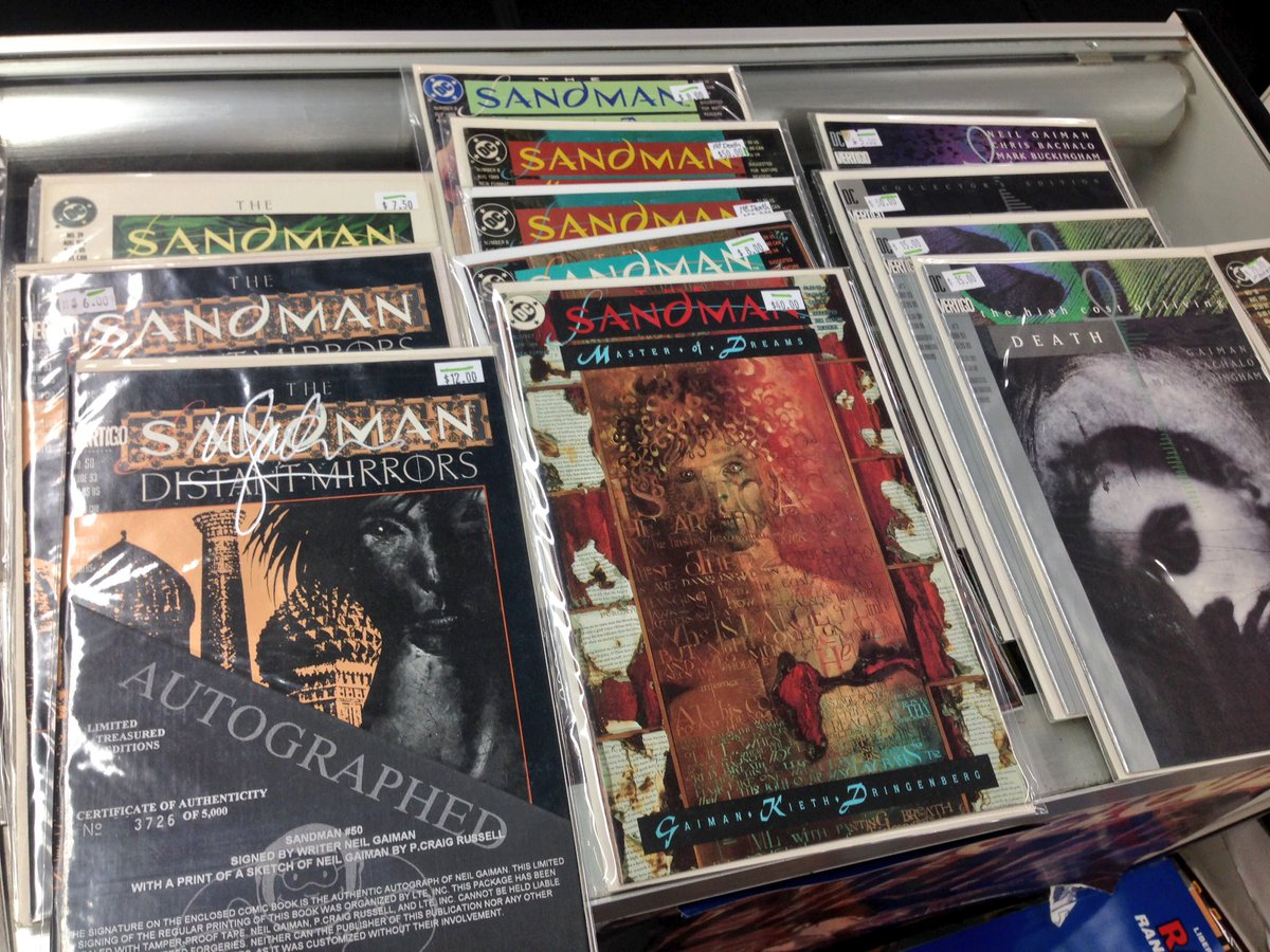 Neil Gaiman's Sandman won the Hugo awards last night and we just found a bunch of 90's #1s. Open till 9pm. https://t.co/lmw29uDBnT