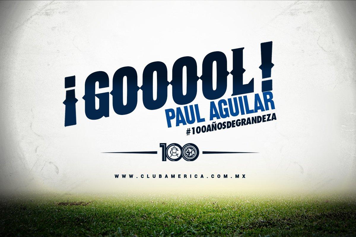 59' Goooooooool!!! Paul Aguilar aprovecha rebote dentro del área y manda el balón a las redes #VamosAmérica https://t.co/H8KzDLa5hN