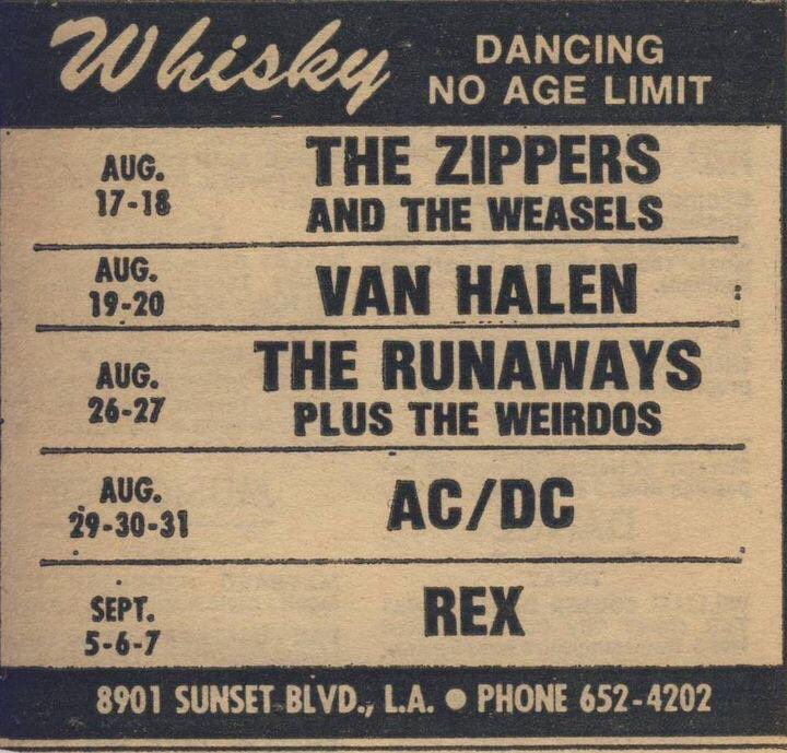 Just a typical week at @TheWhiskyAGoGo in 1977. https://t.co/yyV9bn2N4e