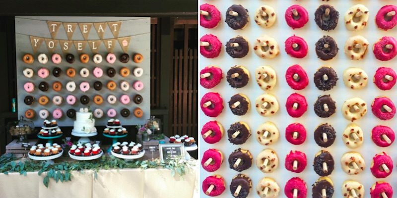 Doughnut Walls Are The New #Wedding Cake Your Guests Will Thank You For ~ https://t.co/l992mRrSd9 https://t.co/1aKNMyOMJi