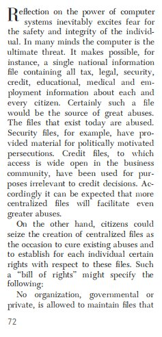 "John McCarthy on creating a ""bill of rights"" for personal data. (Scientific American, September 1966). https://t.co/ODRHjk5QY0"