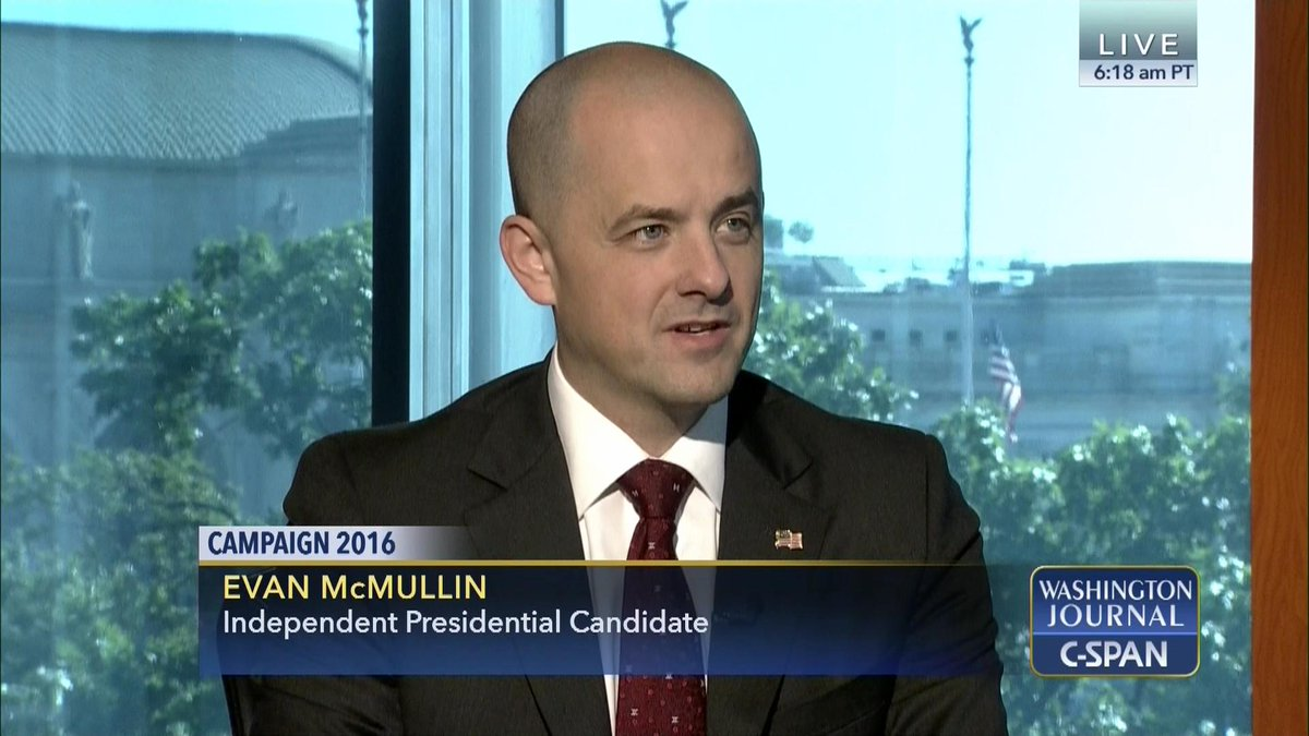 Former CIA operative @Evan_McMullin joins us to discuss his independent presidential bid. https://t.co/6VE7MY2TrJ