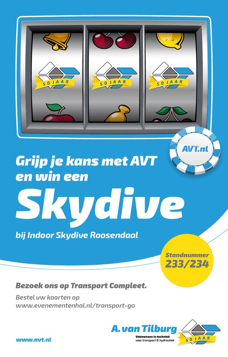test Twitter Media - Grijp je kans op een #Skydive bij@avtilburgbv tijdens Transport Compleet op 6-7-8 september in Gorinchem. https://t.co/pl1Jzaln91