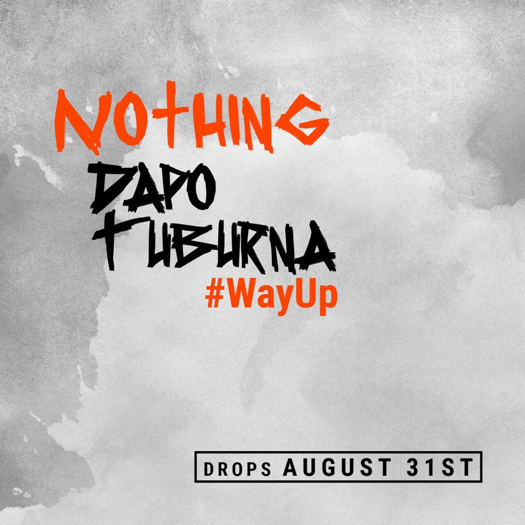 """Nothing"" by the G @DapoTuburna coming your way on the 31st. Anticipate ! https://t.co/qWupse62EB"