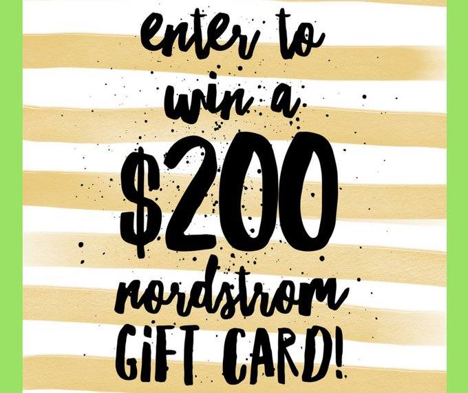 Giveaway Nordstrom $200 Gift Card Enter Daily for More Chances to Win This Sweepstakes