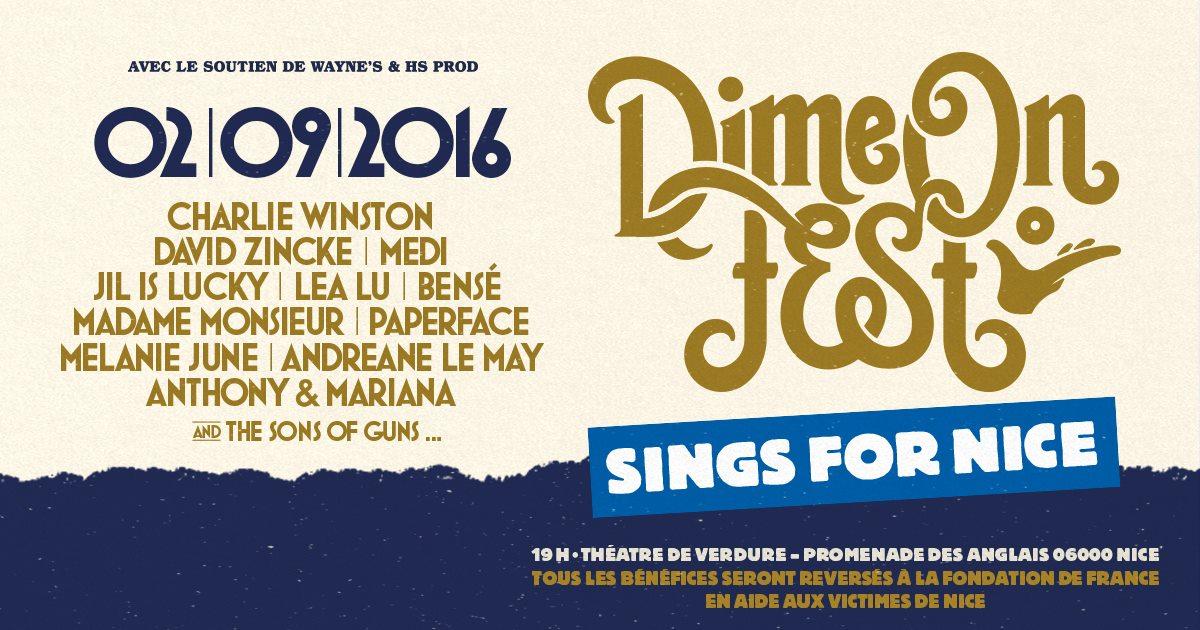 #Caritatif Le festival «Dime On Fest» aura lieu le 02/09 à Nice, en faveur des victimes https://t.co/gBEGI74uuf https://t.co/CHRjNZZj5a