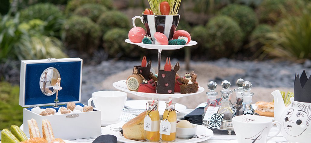 Sanderson Hotel London's most cool afternoon tea