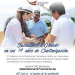 Un fuerte abrazo a los ciudadanos del cantón Olmedo al cumplir un aniversario más de vida política. ¡Viva Olmedo! https://t.co/zYXQwgg0in