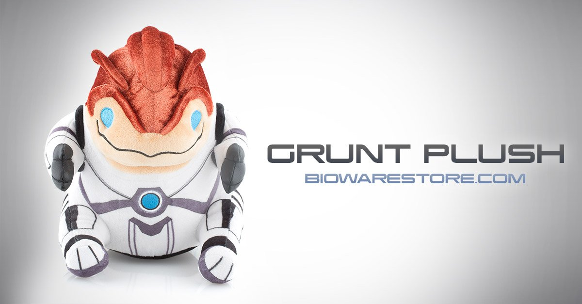 The Mass Effect Grunt plush is now available at https://t.co/KgY2o2Un7w! https://t.co/BP7zMZZmGB