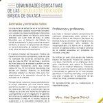 Comunidades eduactivas de las escuelas de educación básica de #Oaxaca @SEP_mx @GabinoCue @SEGEGO_GobOax https://t.co/EWB9EVMXnV