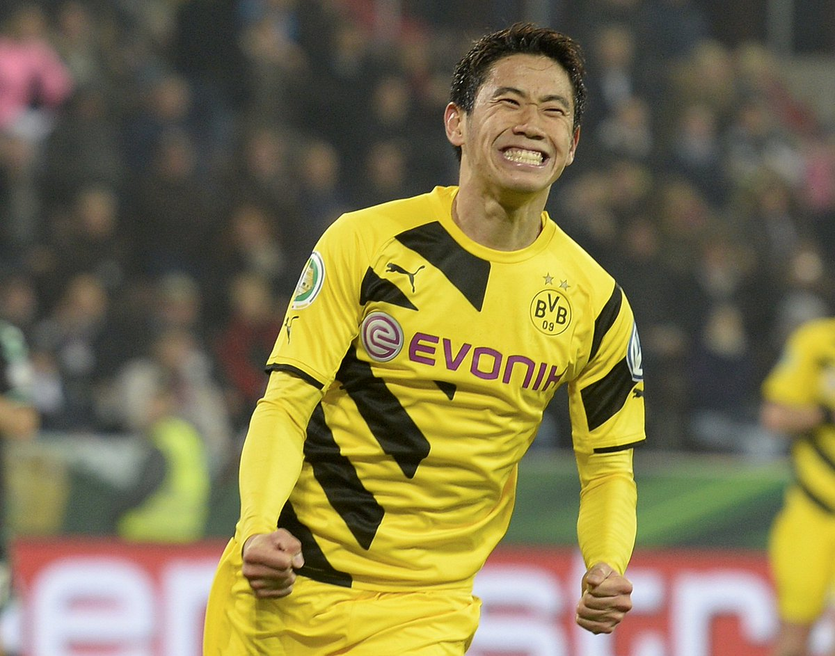 Shinji kagawa has scored his 50th goal for borussia dortmund