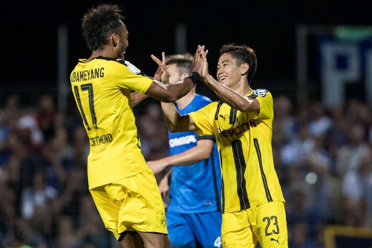 Shinji kagawa 2 and andré schürrle on tar as dortmund win 3 0