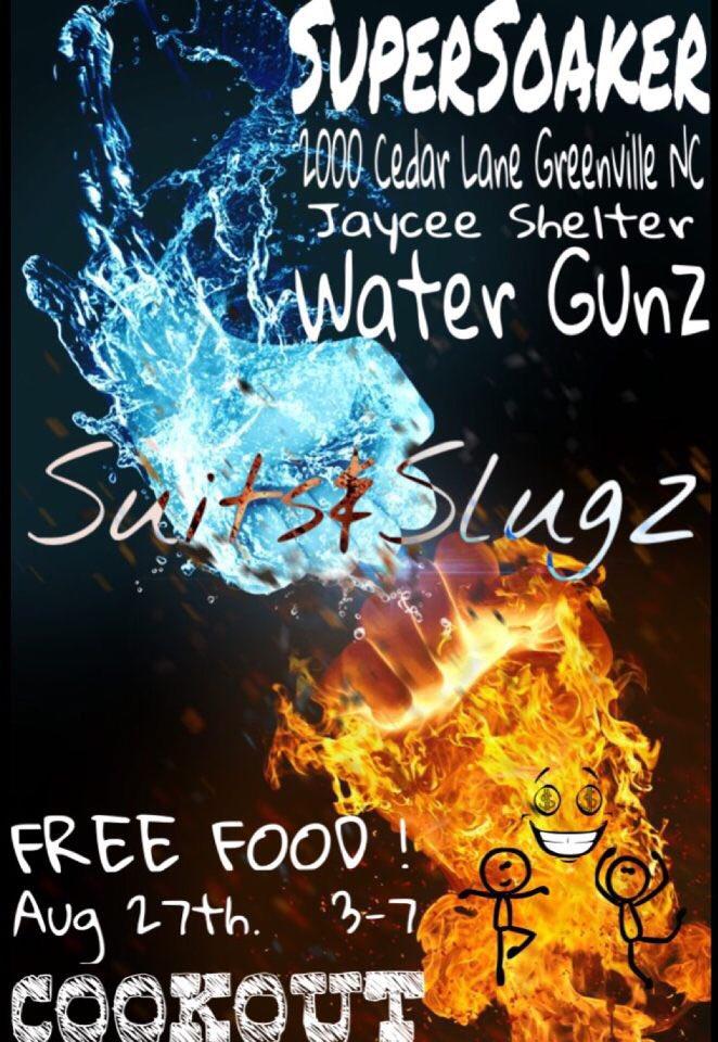 This Saturday❗️Free food❗️ @SuitsnSlugz ❗️Bring your water guns & balloons ❗️#ECU20 #ECU19 #ECU18 #ECU17 ❗️ https://t.co/rynUTs2Bfv