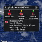 Tropical Storm #Gaston has formed near the Cape Verde islands. Its expected to become a hurricane later this week. https://t.co/O70DDI6WiX