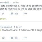 Uma compilação de tweets escrotos e machistas do Tiago Leifert infelizmente está passando pela sua timeline. https://t.co/lg5FNrGLRn