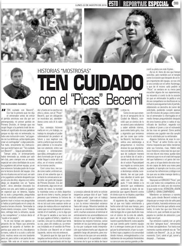Es día de #HistoriasMostrosas en @estoenlinea Hoy les comparto grandes anécdotas con #PicasBecerril en @ClubNecaxa https://t.co/dYbibweE4H