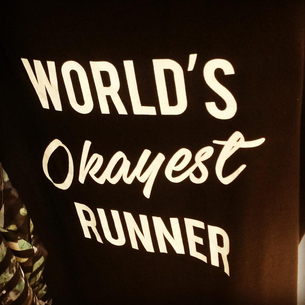Fun #typography + sentiment = perfect T for a #centralparknyc #run! #fitness #advertis ...