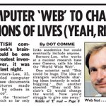 Its been 25 years since @timberners_lee made the World Wide Web public. Itll never catch on... #InternautDay https://t.co/JEtozhjSo9