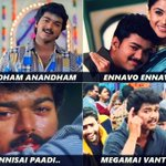 """Which is your most favorite """"Vijay"""" song, composed by Bday Boy S.A Rajkumar?   Tell us,as comments below! https://t.co/jBEqim9Woh"""