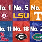 For the 12th straight year, the @SEC has the most ranked teams entering the season. https://t.co/r2DFKZa6jZ