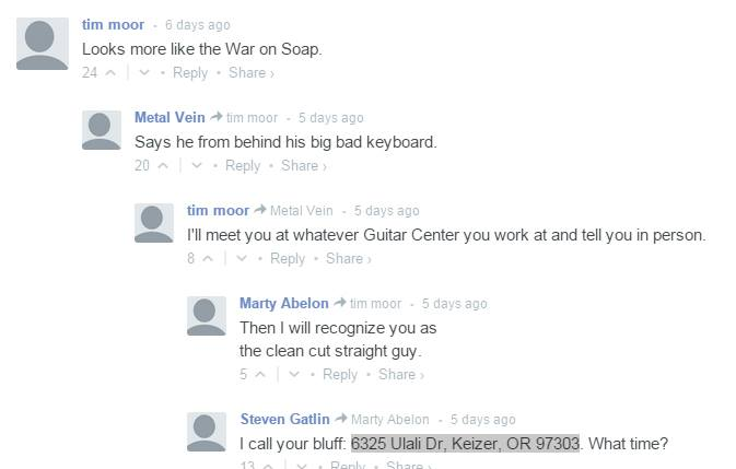 RIP https://t.co/Gbet6f0hqT comments. Let us commemorate with 2 dudes who wanted to fight each other @guitarcenter https://t.co/VKMAubOBao