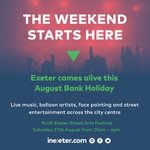 There's only 2 days to go until #TheWeekendStartsHere & @ExeterStreetArt! Don't miss out on all the fun #inExeter https://t.co/1BMV0rupSO