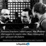 23 agosto 1927 - Ferdinando Nicola Sacco e Bartolomeo Vanzetti vengono giustiziati negli Usa #AccaddeOggi https://t.co/wmgYXPJIAV