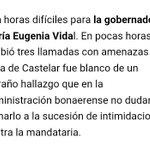 Más amenazas a la Gobernadora @mariuvidal. Esto ya pasa un límite, ahora se encontró un cartucho en su casa. https://t.co/CEs5Mq7xnV