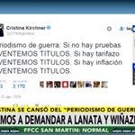 """#AHORA Habla @Gregoriodalbon, abogado de @CFKArgentina, en #MañanasArgentinas: """"Vamos a demandar a Lanata y Wiñazki"""" https://t.co/aIy0QiR6gQ"""