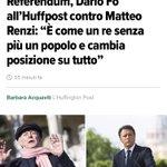 Dario #Fo: #Renzi più che un premier è una ballerina. Sì, ma di lap dance. https://t.co/v35nUXTAGu