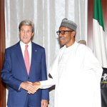Secretary @JohnKerry meets Nigerian President @MBuhari and other government officials in Abuja https://t.co/UOmapmcyYB