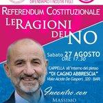 #Gandolfini Sabato 27 a #Bari: le ragioni delle #FamigliePerilNo al #ReferendumCostituzionale #bastaunsi? #iovotoNo https://t.co/AlxjgtkzfR