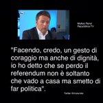 """""""Un gesto di coraggio e di dignità"""" Matteo Renzi https://t.co/7Olf3Vx6hu https://t.co/ggJYnFkCNq"""