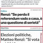 #Renzi si rimangia la parola sul #referendum. Cosa aspettavate da uno diventato premier con un #enricostaisereno? ST https://t.co/GwIzXSEIeJ