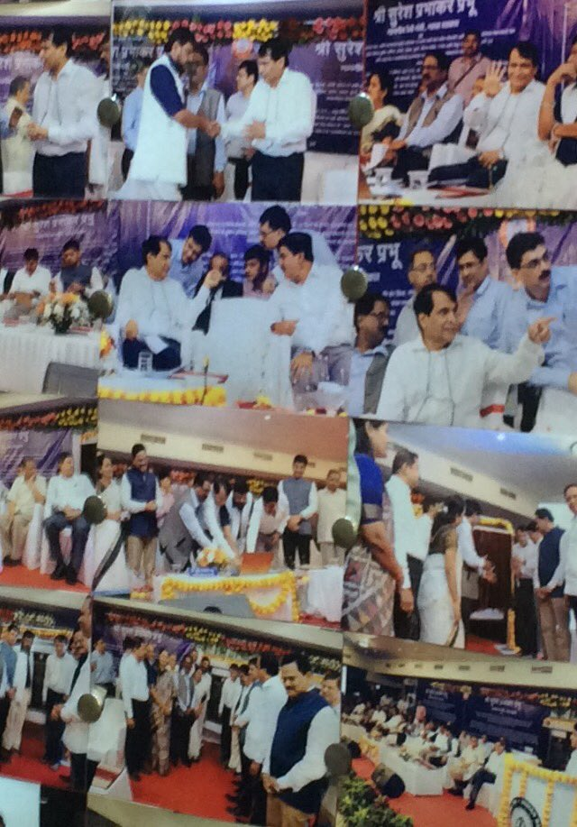 Dadar #Mumbai function on 22 Aug Photos Collage @CST Mumbai @sureshpprabhu @RailMinInd ...