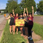Some of the team welcoming the incoming freshman to campus, hello class of 2020! #BulldogCountry https://t.co/f9nmxgblUJ