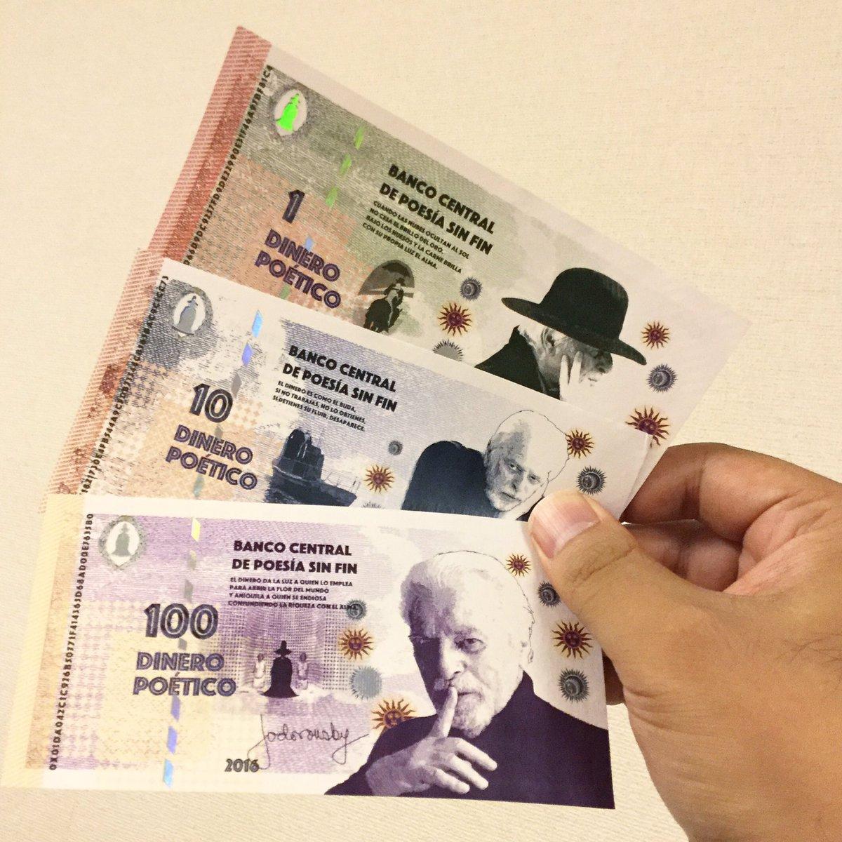 ホドロフスキー札が手元に届いた。単位は「DINERO POÉTICO 」。 https://t.co/sEJxFVj2oE