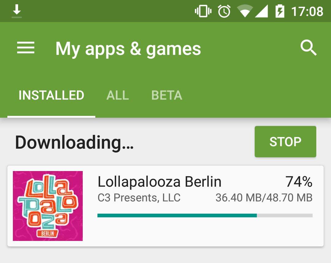 Fast 50MB fr die App vom #lollaberlin? Haben die da Videos aller Knstler drin?  https://t.co/Nuc9wHQQvX