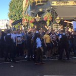 Bristol Rovers fans at the Courtfield Pub in Earls Court ahead of Chelsea tonight. #BRFC https://t.co/3VtIEQ5KyM