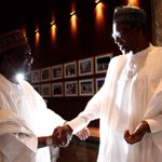Earlier today, former Head of State Gen Yakubu Gowon (Rtd) visited President @MBuhari at the State House https://t.co/BP0ksaslLB
